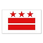 3 Stars and 2 Bars Sticker (Rectangle 50 pk)