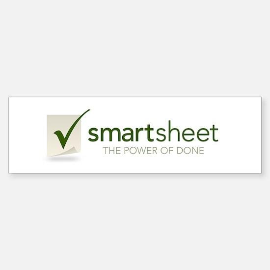 Smartsheet Bumper Bumper Bumper Sticker