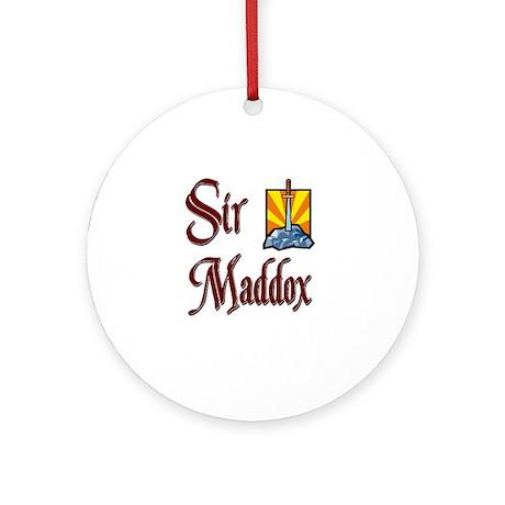 Sir Maddox Ornament (Round)