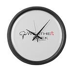 Weather Geek Large Wall Clock