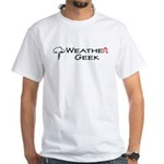 Weather Geek White T-Shirt