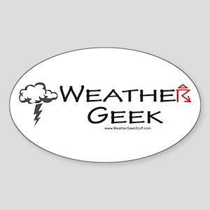 Weather Geek Oval Sticker