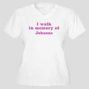 Walk in memory of Johanna Women's Plus Size V-Neck