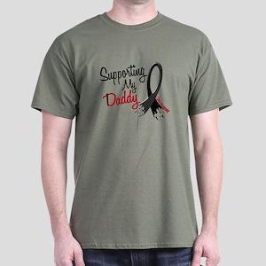 Supporting My Daddy MELANOMA Dark T-Shirt