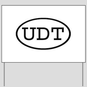 UDT Oval Yard Sign