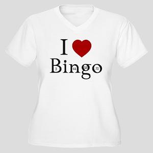 I Love Bingo Women's Plus Size V-Neck T-Shirt