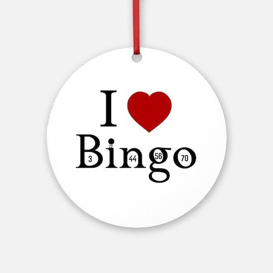 I Love Bingo Ornament (Round)