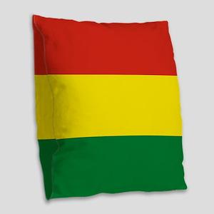 Flag: Bolivia Burlap Throw Pillow