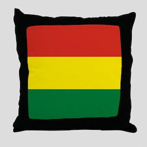 Flag: Bolivia Throw Pillow