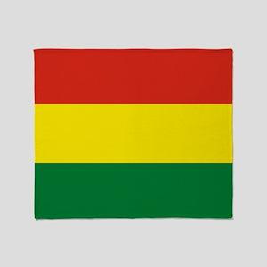 Flag: Bolivia Throw Blanket