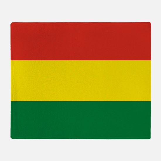 Flag: Bolivia Throw Blanket