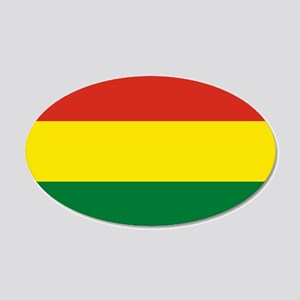 Flag: Bolivia 20x12 Oval Wall Decal