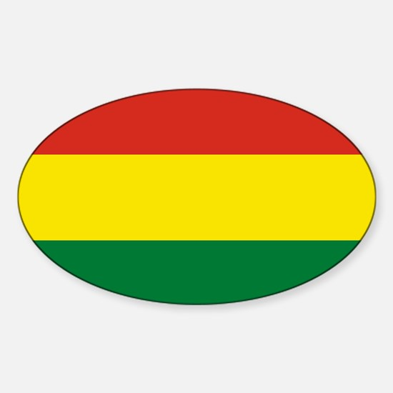Flag: Bolivia Sticker (Oval)
