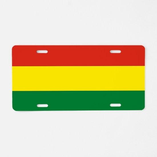 Flag: Bolivia Aluminum License Plate