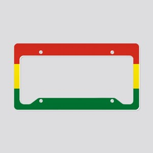 Flag: Bolivia License Plate Holder