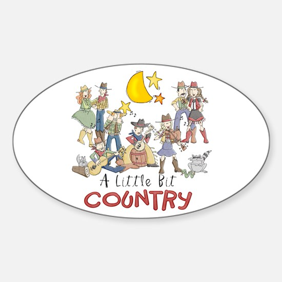 Little Bit Country Oval Decal