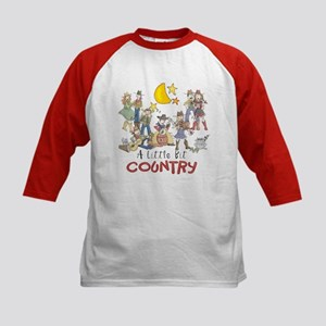 Little Bit Country Kids Baseball Jersey