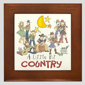 Little Bit Country Framed Tile