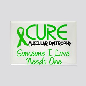 CURE Muscular Dystrophy 2 Rectangle Magnet