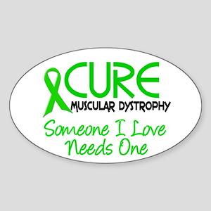 CURE Muscular Dystrophy 2 Oval Sticker