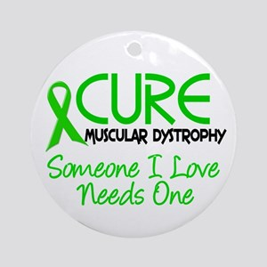 CURE Muscular Dystrophy 2 Ornament (Round)