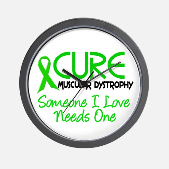 CURE Muscular Dystrophy 2 Wall Clock