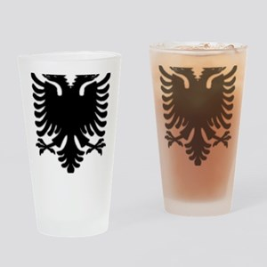 Black Albanian Double headed eagle Drinking Glass