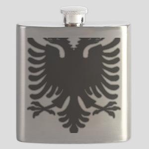 Black Albanian Double headed eagle Flask
