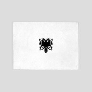 Black Albanian Double headed eagle 5'x7'Area Rug