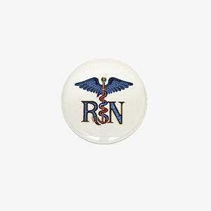 RN Caduceus Mini Button
