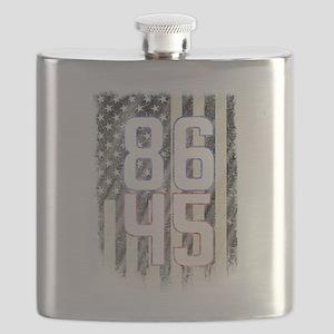 8645 Anti Trump Resist Trump Impeach 45 B&am Flask