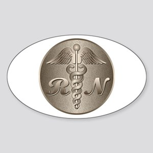 RN Caduceus Oval Sticker