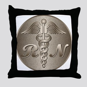 RN Caduceus Throw Pillow