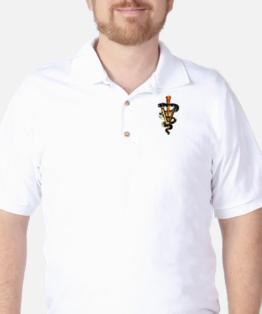Veterinary Caduceus Golf Shirt