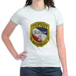 USS FOX Jr. Ringer T-Shirt