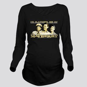 Rather Be in Mayberr Long Sleeve Maternity T-Shirt