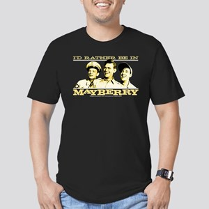 Rather Be in Mayberry Men's Fitted T-Shirt (dark)