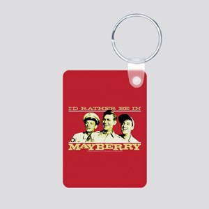 Rather Be in Mayberry Aluminum Photo Keychain
