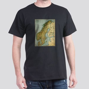 Vintage Map of Norway and Sweden (1921) T-Shirt