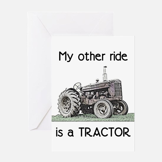 Ride a Tractor Greeting Cards