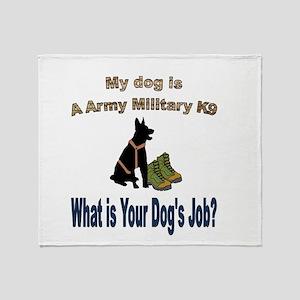 Army Military K9 GSD Throw Blanket