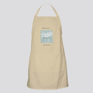 Add Text White Flowers Mint Light Apron