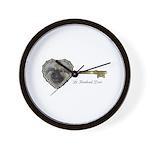 Le Keeshond Dore Wall Clock