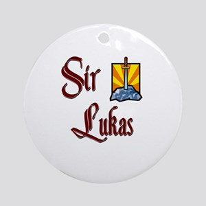 Sir Lukas Ornament (Round)