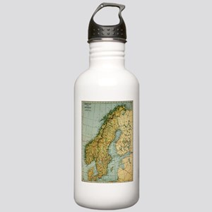 Vintage Map of Norway Stainless Water Bottle 1.0L