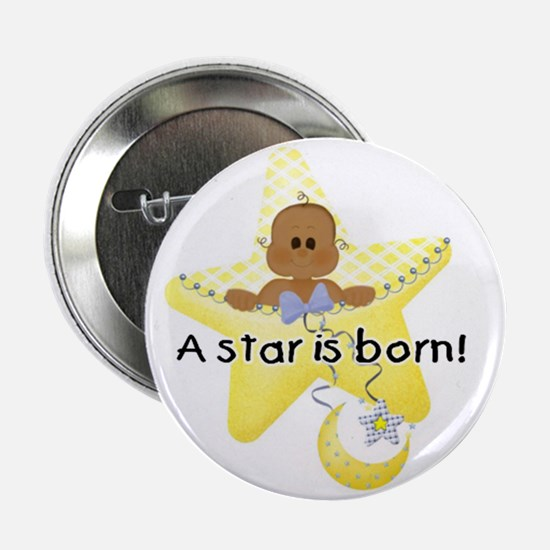 A Star is Born African American Baby Button