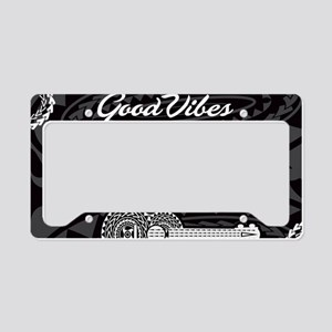 Ukulele Good Vibes Frame - License Plate Holder