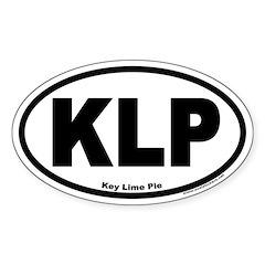 Key Lime Pie Oval Car Sticker!