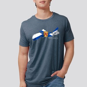 Nova Scotia Flag Women's Dark T-Shirt