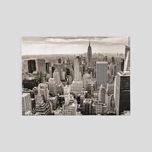 Manhattan, New York 5'x7'Area Rug